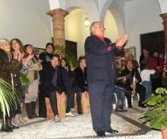 El Gitanillo de Vélez, durante una actuación con motivo de la Navidad.